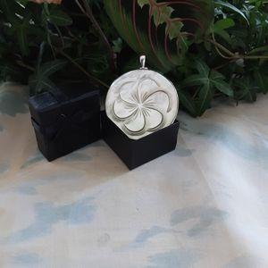 Sterling Silver Abalone Seashell Pendant